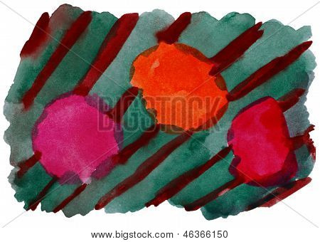 art green orange vanguard watercolor isolated for your design