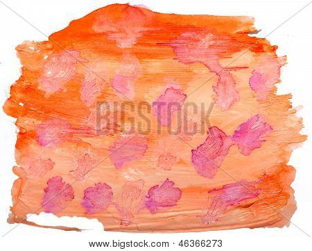 art orange red spot, watercolor isolated for your design