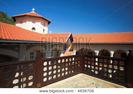 Kikkos Monastery In Moutains Of Troodos