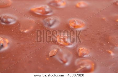 Chocolate surface.