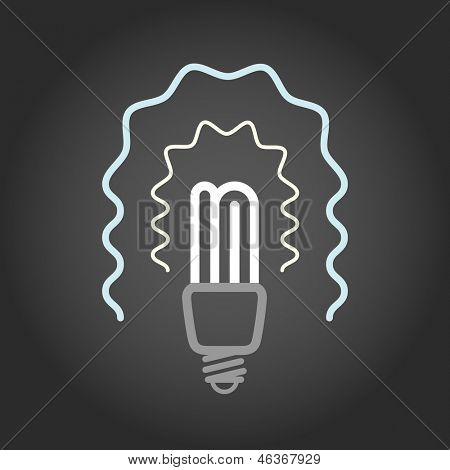 Lighting energy save lamp on dark background