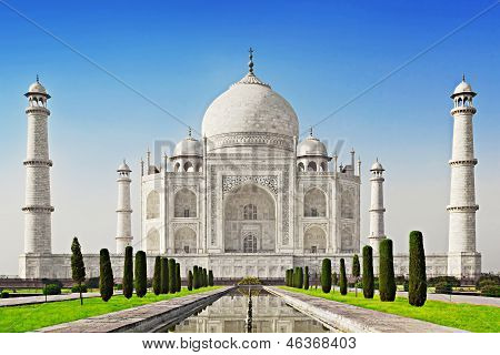 Taj Mahal In Sunrise Light