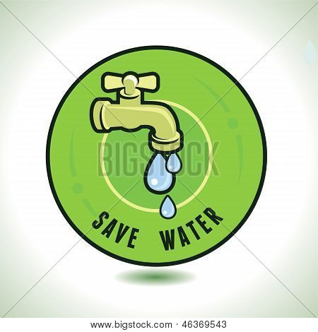 Vector Ecology Concept - Save Water