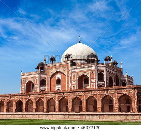 Humayun's Tomb. Delhi, India. UNESCO World Heritage Site