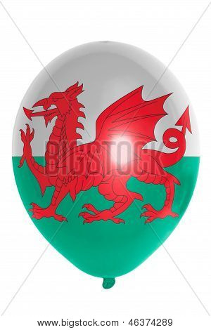 Balloon Colored In  National Flag Of Wales