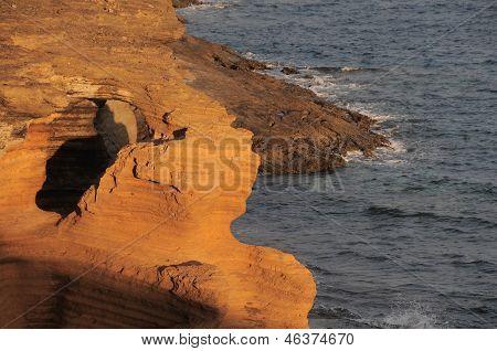 Orange Volcanic Rock