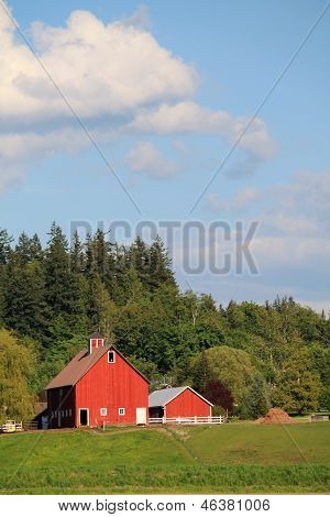 Red Barn Blue Sky