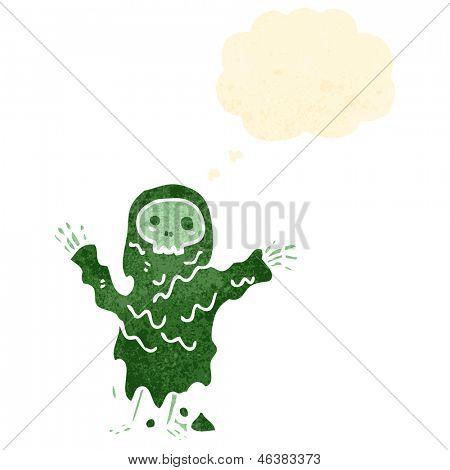 ghoul assustador retrô dos desenhos animados
