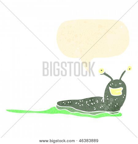 retro cartoon slug