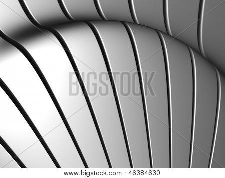 Silver aluminum stripe background 3d illustration