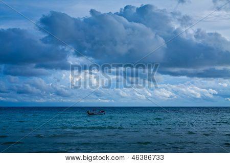 Cielo nublado tormentoso