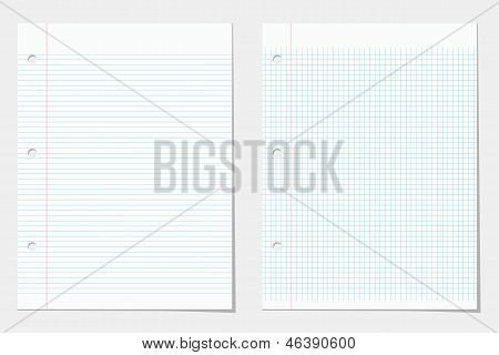 Two Lined Notebook Sheets
