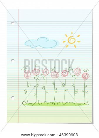 Summer Garden Floral Background