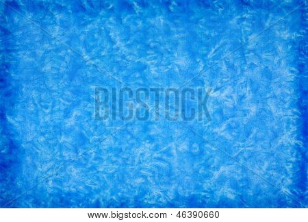 Blue Mottled Grunge Background In Watercolor
