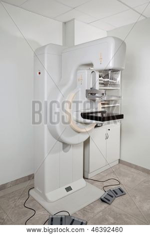 Modern mammography device in laboratory for screening breast cancer