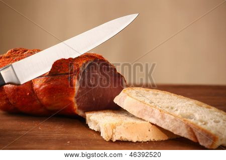 Italian Capocollo With Bread