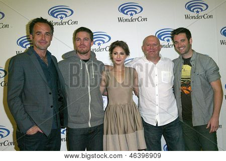 ANAHEIM, CA - MARCH 31: The cast and executive producer of
