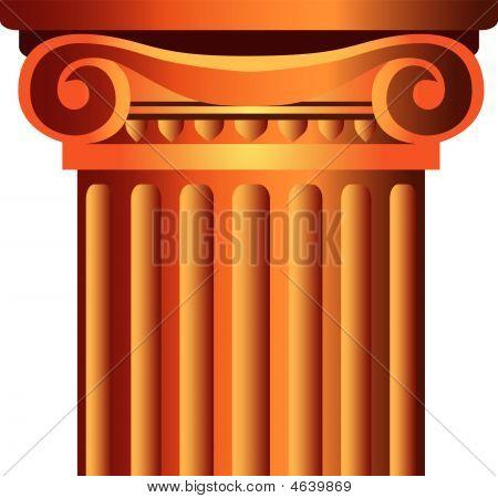 Decorated Column Top Capital