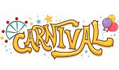pic of carnival ride  - Illustration of Carnival Text with Stars and a Ferris Wheel - JPG