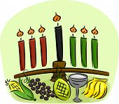 picture of unity candle  - Illustration of Kwanzaa Symbols - JPG