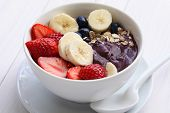 stock photo of cereal bowl  - acai bowl - JPG