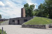 OSWIECIM - MAY 26: Gas chamber and crematory in the concentration camp in Oswiecim, Poland on May 26