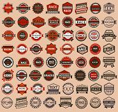 stock photo of transportation icons  - Racing badges  - JPG