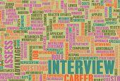 Постер, плакат: Работа интервью концепция с идеей карьера вопросы