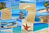 stock photo of canary-islands  - a collage of some pictures of different beaches of Spain - JPG
