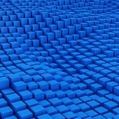 Blue Mosaic Surface