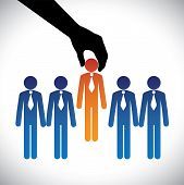 image of recruitment  - Concept vector graphic - JPG