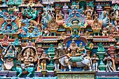 image of meenakshi  - relief of menakshi temple madurai tamil nadu india - JPG