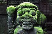 picture of rock carving  - BALI INDONESIA  - JPG
