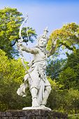 picture of mahabharata  - Archer Arjuna statue on Bali island - JPG