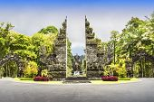 foto of garden sculpture  - Entrance of Eka Karya Botanic Garden Bali - JPG