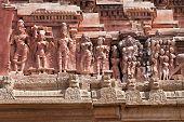 stock photo of krishna  - Detail of Krishna temple Hampi Karnataka state India - JPG
