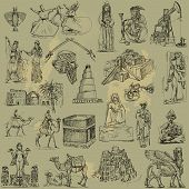 stock photo of mesopotamia  - A hand drawn collection  - JPG