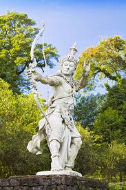 picture of mahabharata  - Archer Arjuna statue on Bali island - JPG