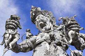 foto of mahabharata  - Kumbakarna Laga statue in Eka Karya Botanical Garden Bedugul Bali Indonesia - JPG