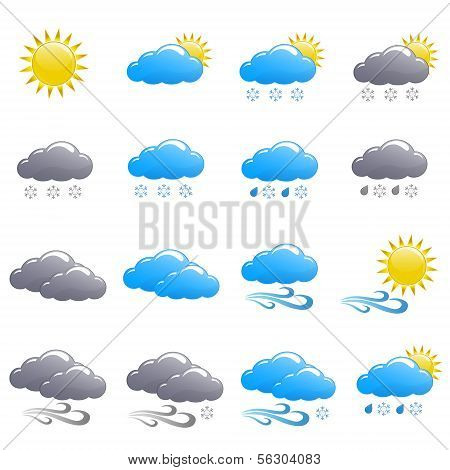 Weather Icon Set Winter Day