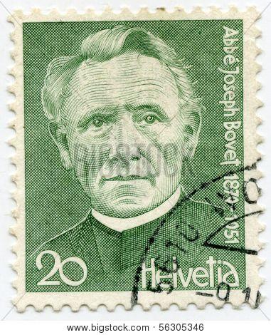 Stamp from Switzerland Abbé Joseph Bovet
