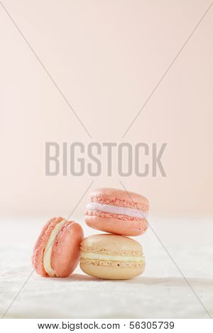 Three Macaron In A Stack