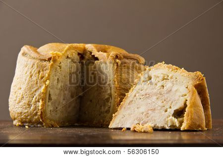 Melton Mowbray Pork Pie Cut Low Shot