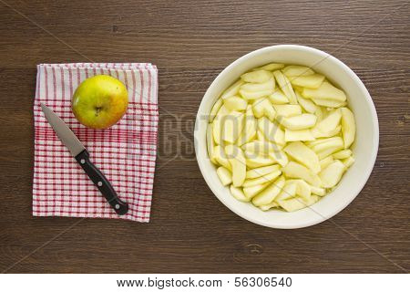 Sliced Apples For An Apple Pie