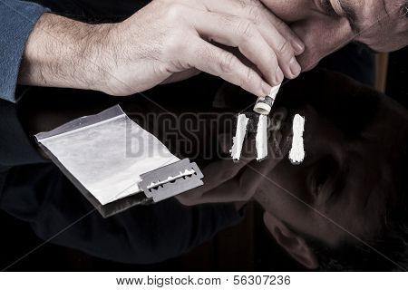 Man Snorting