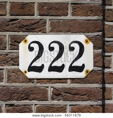 Number 222