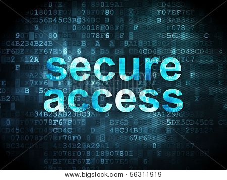 Safety concept: Secure Access on digital background