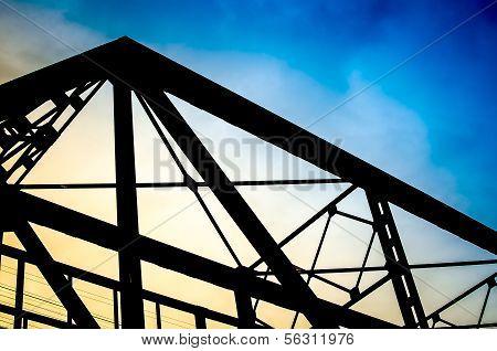 Vintage Metal Bridge For Railroad, Lampang, Thailand.