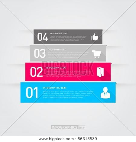 Modern Business Step by Step Infographics