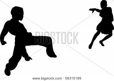 two children, tango dancers